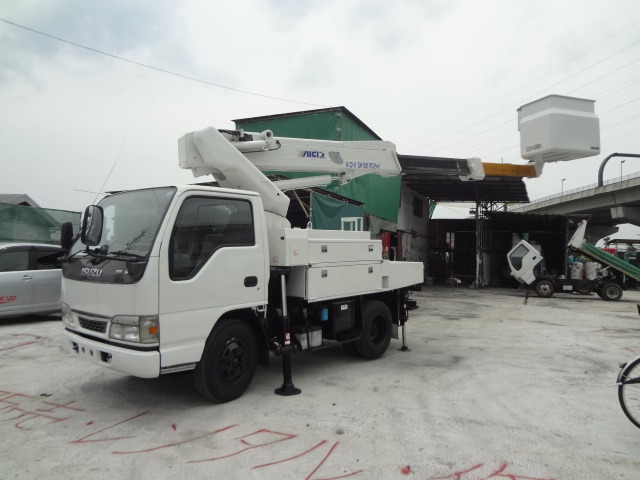 いすゞ エルフ 高所作業車 H15 アイチSH106 電工10.6m