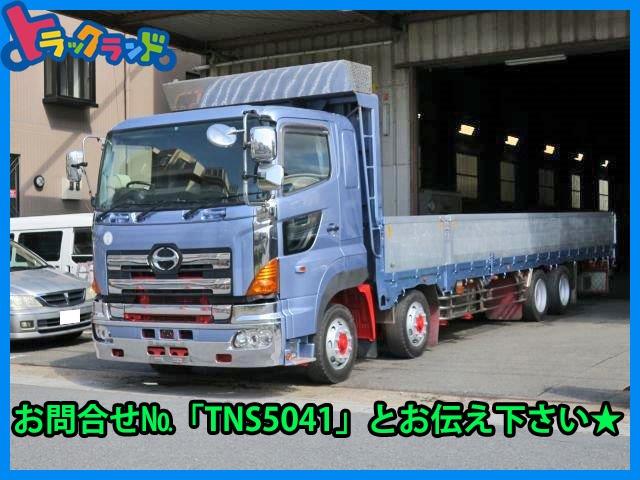 日野 プロフィア トラック H19 日野 大型平ボディブロック 低床
