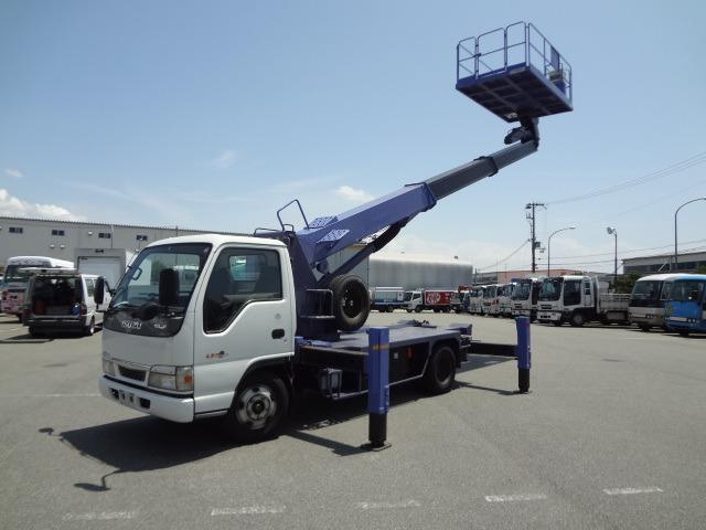 いすゞ エルフ 高所作業車 H15 AT-120SR 12m 走行少