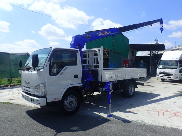 いすゞ エルフ クレーン H21 4段 ロング 3.5t 塗装済