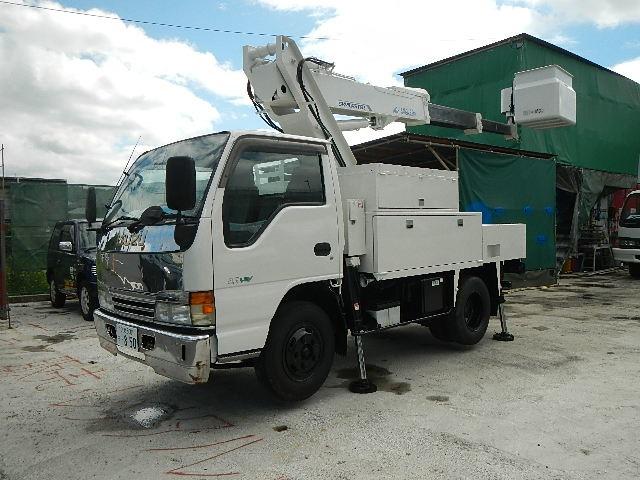 いすゞ エルフ 高所作業車 H14 SK09A 9.9m 塗装済