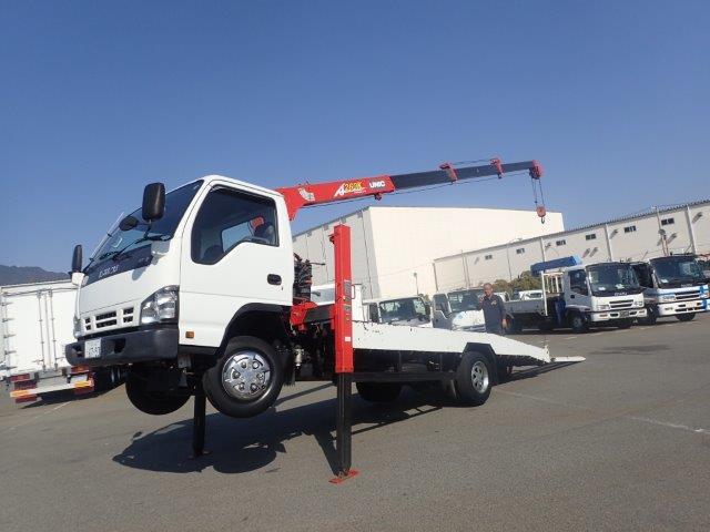いすゞ エルフ 積載車 H17 4段ラジコン ハイジャッキ 3t