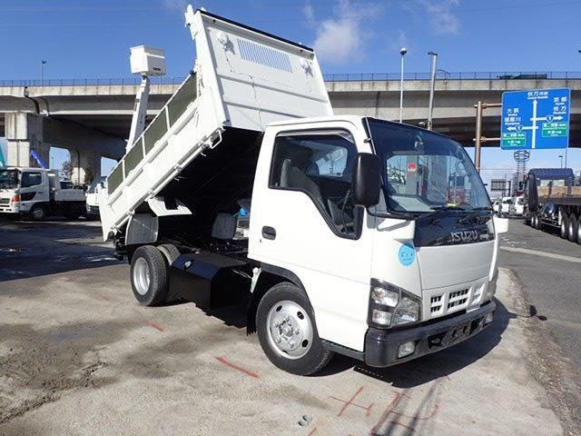 いすゞ エルフ ダンプ 低床 H16 3t 強化三方開 塗装済
