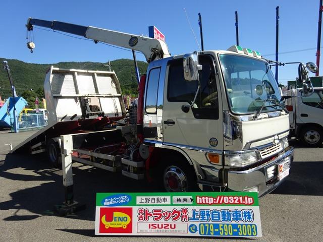 日野 レンジャー  増トン クレーン付セフティローダー