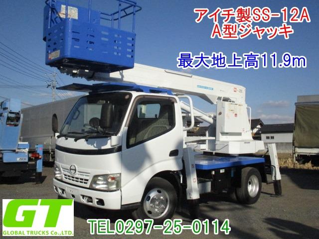 日野 デュトロ 高所作業車 高所作業車 アイチSS12A