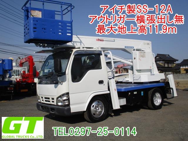 いすゞ エルフ 高所作業車 12m高所作業車 アイチSS12A