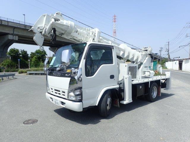 いすゞ エルフ 4.8 ロング 高床 ディーゼル H19 穴掘建柱 DT-620 整備済