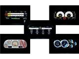 ココが注目ポイント!!モーテックカラーディスプレイ!メーターデザインをレーシングマシーンの様なデザインにワンタッチで5種類変更可能。純正メーターはグローブボックス内に収容されメーター管理されています。