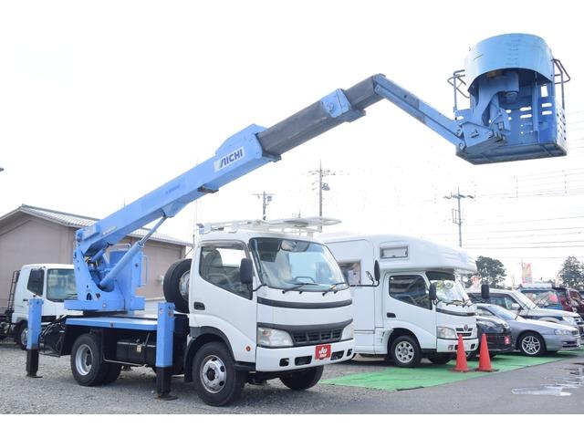 日野 デュトロ 高所作業車 アイチ・SJ16屈折ブーム・6速MT