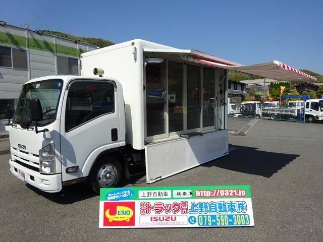 いすゞ エルフ  移動販売車 事務室車 キャンピングカー