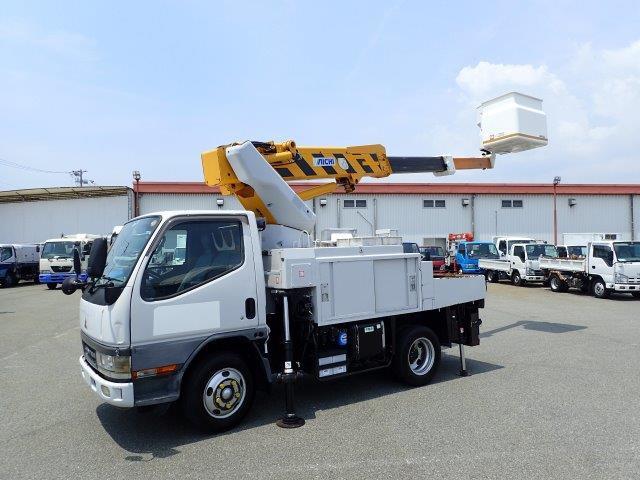 三菱ふそう キャンター 高所作業車 H13 SH09A  電工仕様 9.7m