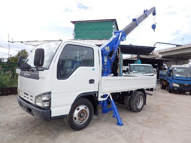 いすゞ エルフ クレーン H18 3t 10尺 4段ラジコン 横