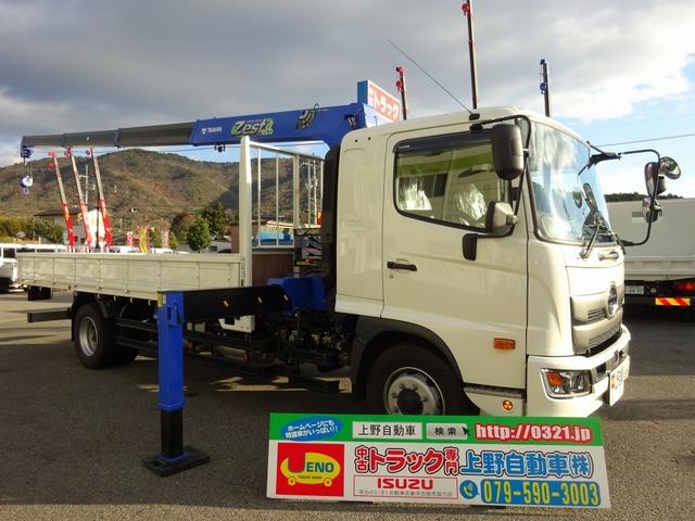 日野 レンジャー クレーン 4段 増トン 標準幅 7.7t積み