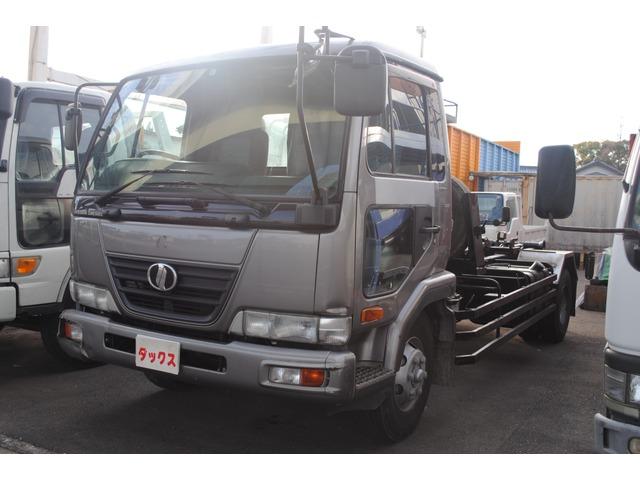 日産ディーゼル コンドル コンテナ車 アームロール 3.5t フックロール