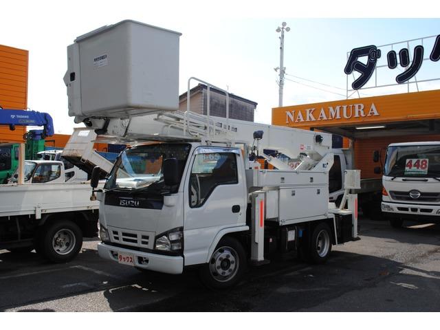 いすゞ エルフ 高所作業車 電工仕様 14.6m サブバッテリー