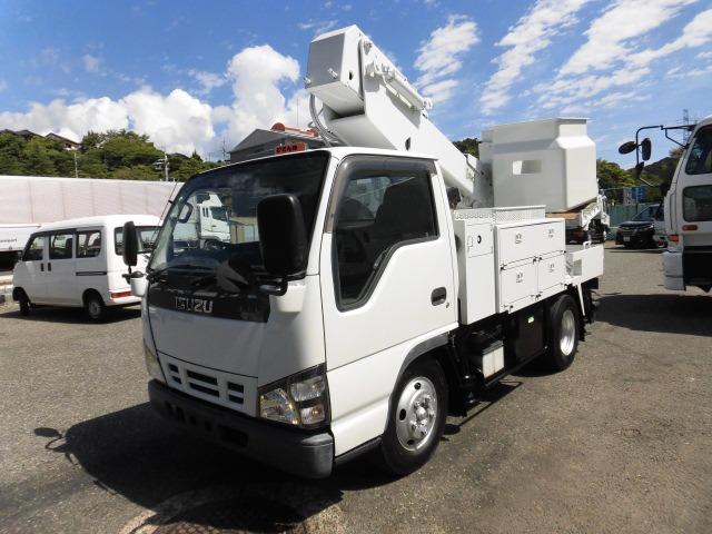 いすゞ エルフ 高所作業車 エスマックTA-100 作業高9.9m