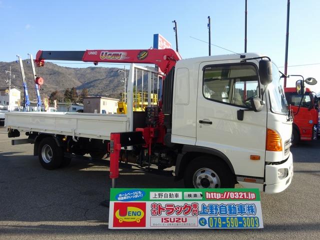 日野 レンジャー  2段クレーン付 3t積み 4.7mボディ