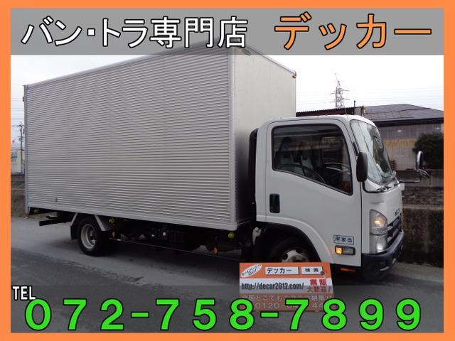いすゞ エルフ 3.0 ワイド 超ロング フルフラットロー ディーゼルターボ 2tアルミバン荷寸504-210-243