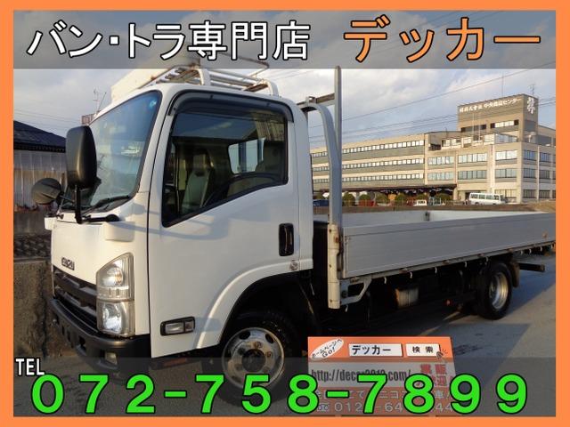 いすゞ エルフ 3.0 ワイド ロング フルフラットロー ディーゼルターボ 4WD 2トン アルミブロック荷寸435-208
