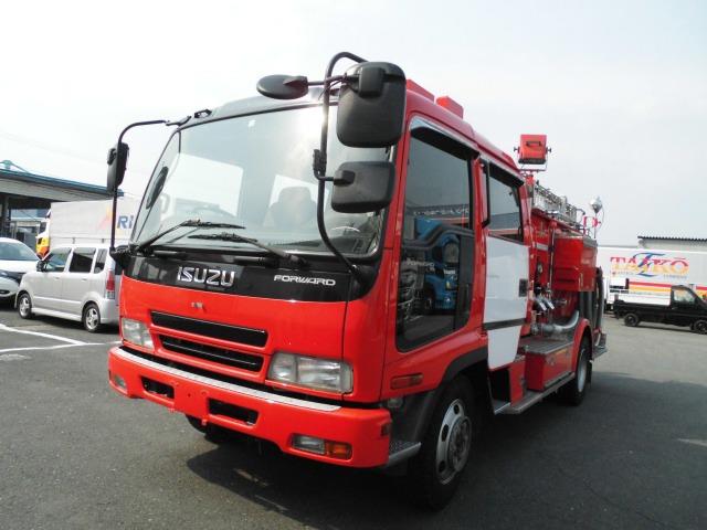 いすゞ フォワード  消防タンク車 ポンプ車 4WD 6速