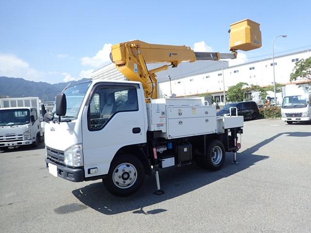 いすゞ エルフ 高所作業車 H24 AT-100TTE 電工 検付