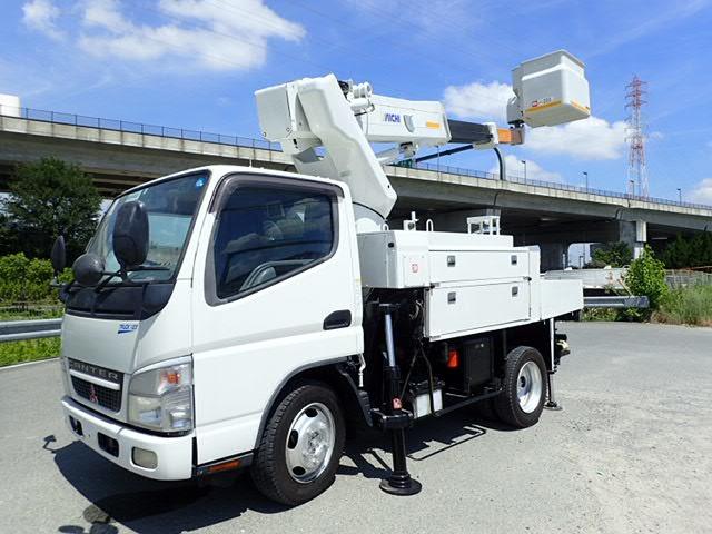 三菱ふそう キャンター 高所作業車 H19 SH09Aワンピン 電工 4WD