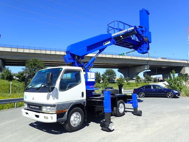 三菱ふそう キャンター 高所作業車 H13 BT-100 橋梁点検車 塗装済