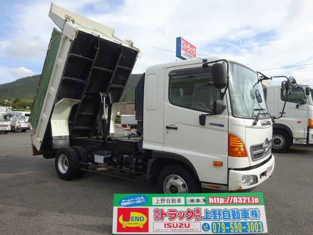 日野 レンジャー ダンプ 電動コボレーン ベッド付 3.6t積み