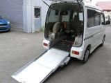 ダイハツ アトレーワゴン フレンドシップ スローパー リヤシートレス折り畳み補助シート付