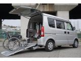 エブリイ ウィズ 車いす移動車 補助シート付 電動固定式 車椅子乗員用手すり付き