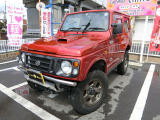 ジムニー ランドベンチャー 4WD ターボ 赤全塗装 外16AW リフトUP