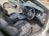 A5カブリオレ 2.0 TFSI クワトロ 4WD 後期 黒本革 純正ナビ ワインレッド幌
