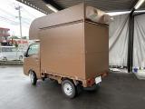 ハイゼットトラック スタンダード 移動販売 キッチンカー ブラウン全塗装済