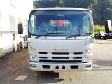 エルフ  ユニック車クレーン付きトラック超ロング