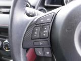 オーディオコントロールもハンドルから手を放さず安全に行えます。