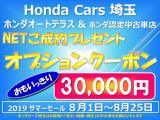 サマーセール!!!期間限定でオプション用品30,000円プレゼント!