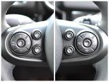 左側にはクルーズコントロールと、車間調整用のスイッチ  右側には「音量調整/選局」「電話の発着信」「スピーチコントロール(発話)」の各ボタン
