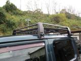 純正ルーフラックはマッドブラックに塗装済みです