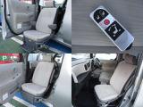 助手席はリモコンやシートのスイッチでスムーズにスライドするので乗り降りもしやすいですね!