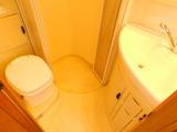 カセット引き出し式トイレ 温水シャワー 洗面台