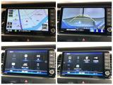 ナビゲーションの各画面です。安心のバックカメラや録音機能・録音機器接続、TVやDVD再生などドライブの快適サポートが満載です。