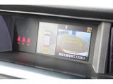 パノラミックビューモニター。車両の前後左右に搭載した4つのカメラから取り込んだ映像を合成しディスプレイに表示。