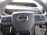 ステアリングスイッチ付。車の操作をハンドル回りで行えるので安全に操作できます