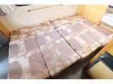 ダイネット部分はベッド展開可能です! サイズは188cm×128cmです。