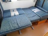 ダイネット部分ベッド展開時サイズ 長さ180cm幅118cm最小幅106cm