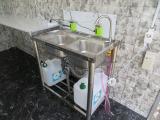 2槽シンク装備!!給排水タンクはご希望の容量で設置致します!お気軽にご相談下さい!!